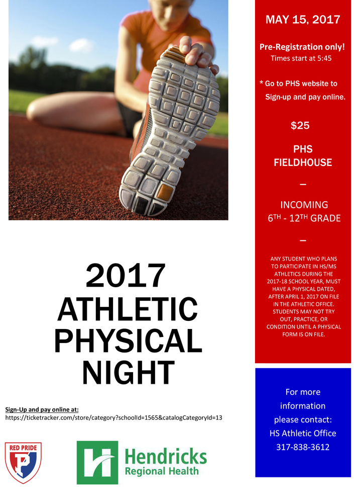 5th Grade Parents: Athletic Physicals Coming Soon!
