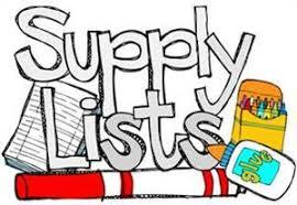 School Supply List for 2017-2018