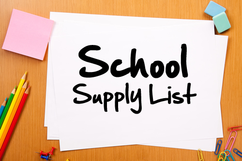 Clarks Creek School Supply Lists 2017-2018