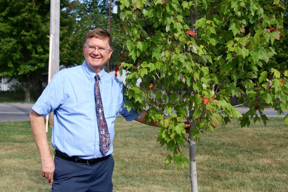 Tree Dedicated to Teacher of the Year, Brad DeHoff