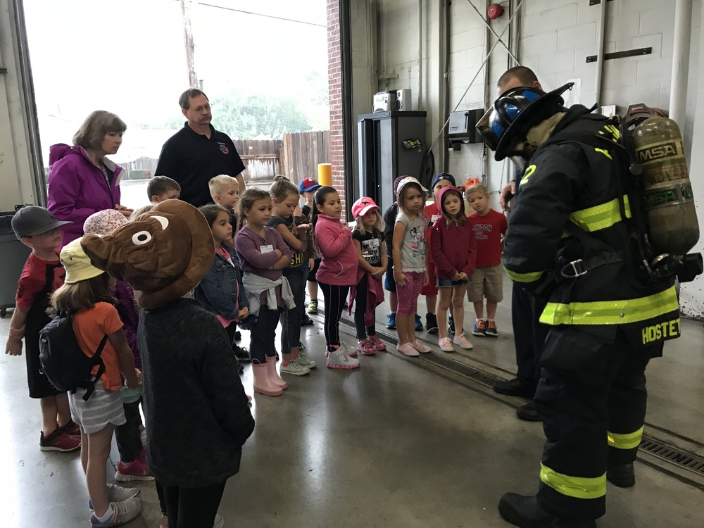 Kindergarten Visits Our Plainfield Fire Department