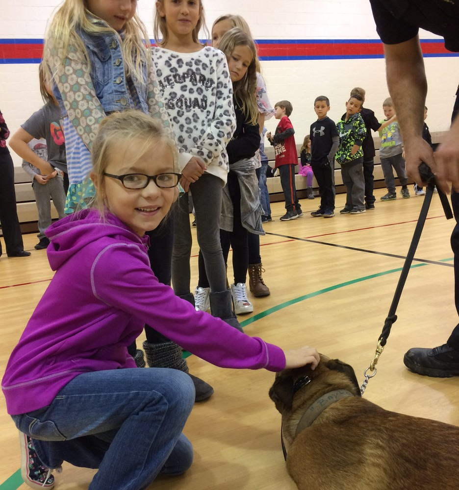 Plainfield Police Department's Canine Visits