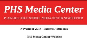 November PHS Media Center Newsletter