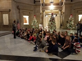 Fourth Grade Visits Capitol Building and Indiana State Museum