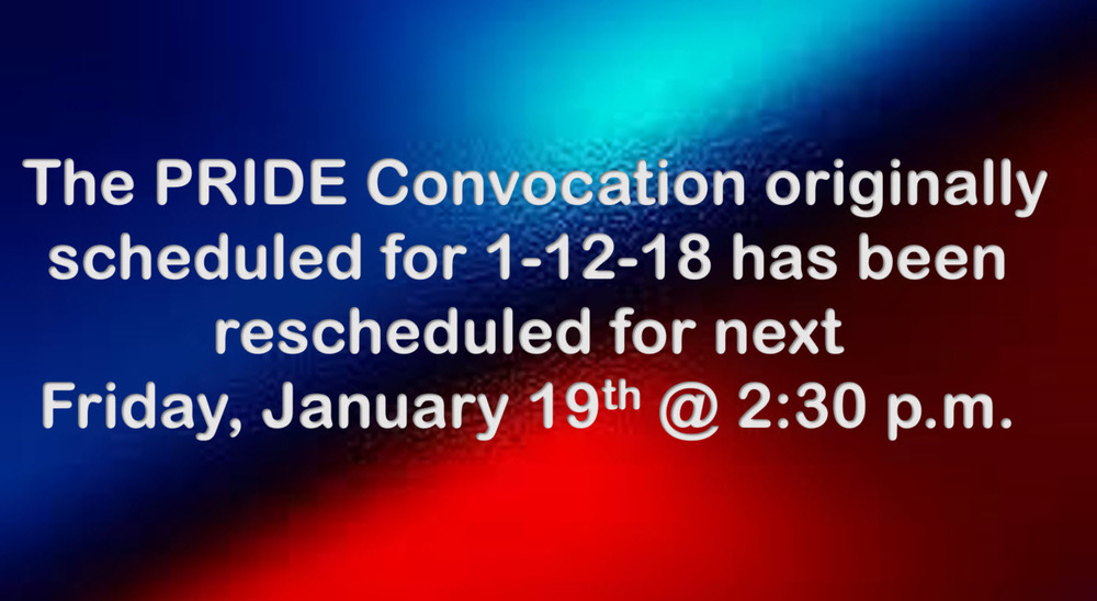 PRIDE Convo Rescheduled!