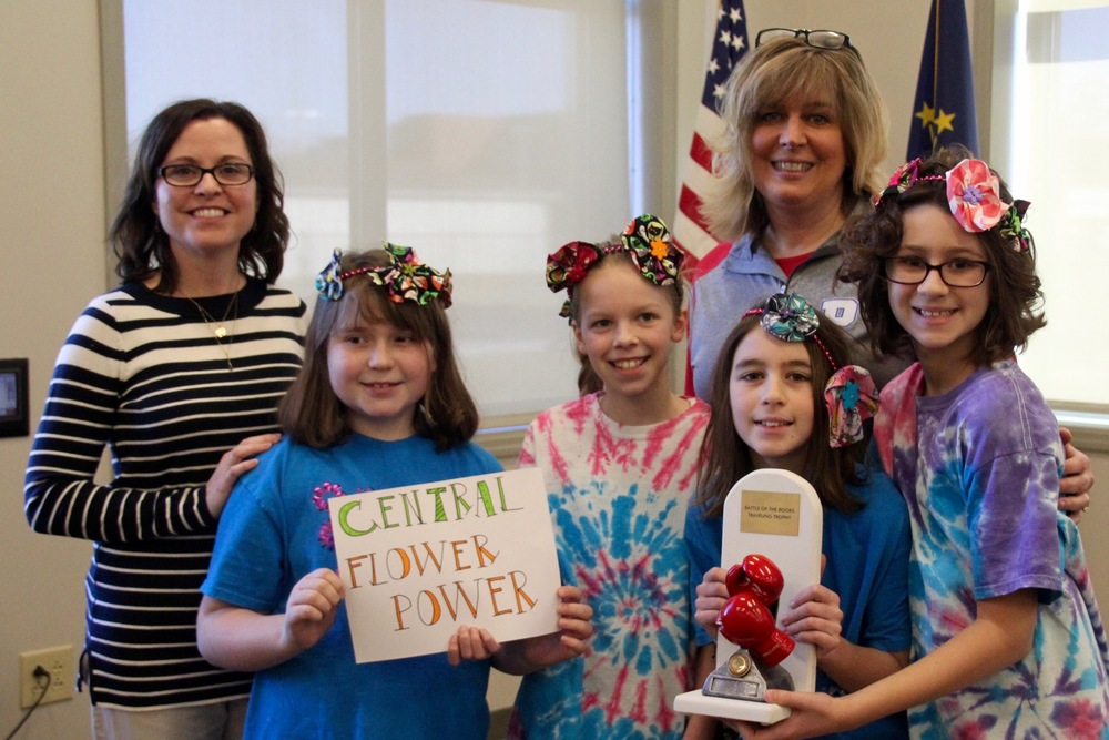 "Central's ""Flower Power"" earns the Battle of the Books Trophy"