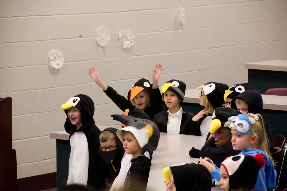 Penguins invade Clarks Creek!