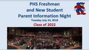 PHS Freshman Parent Information Night PowerPoint