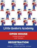 Little Quakers Academy: Fall 2019 Registration Dates!