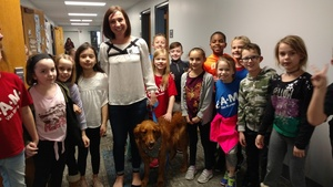 Second Grade Gets a Furry Visitor
