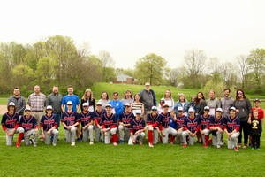 8th grade baseball players honor teachers