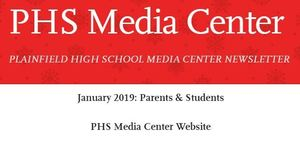 PHS Media Center Newsletter - January 2019