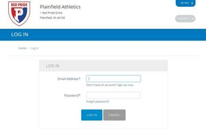 Athletic Forms - Privit login page