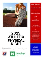 2019 Athletic Physical Night at PHS - 4/22/19