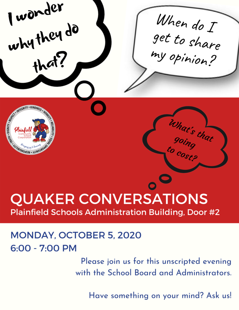 Graphic for Quaker Conversations: tonight at 6 pm