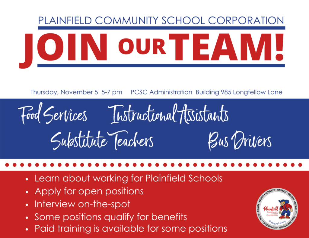 Job Fair: Thursday, November 5, 5-7 pm