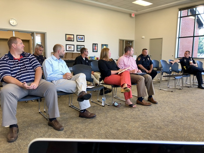 Plainfield Police & Fire officials, Indiana State Police and school safety leaders met with the school board during a work session