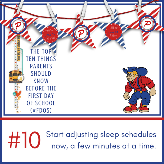 #10: Start adjusting sleep schedules now, a few minutes at a time.