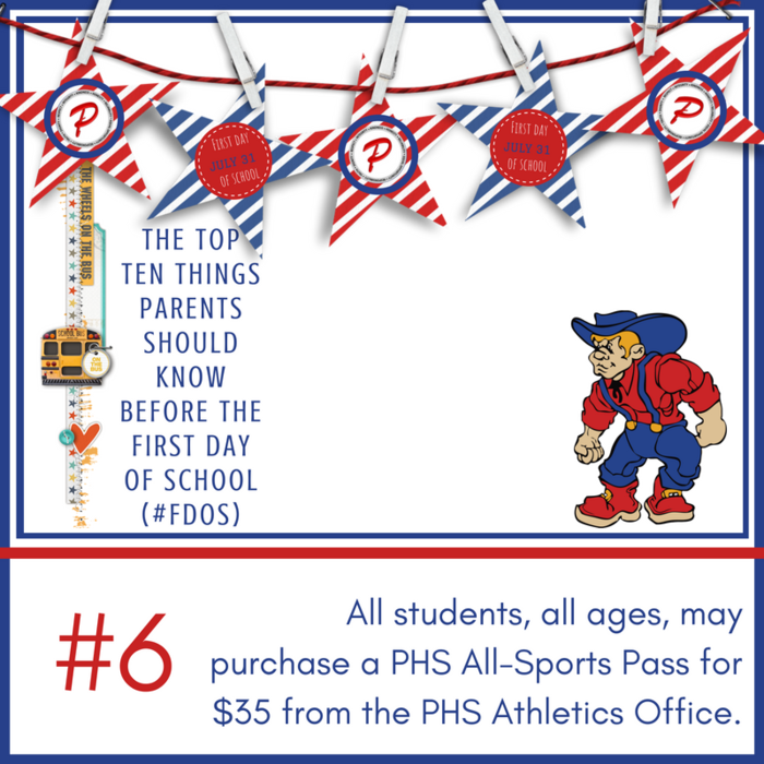 All students, all ages, may purchase a PHS All-Sports Pass for $35 from the PHS Athletics Office.