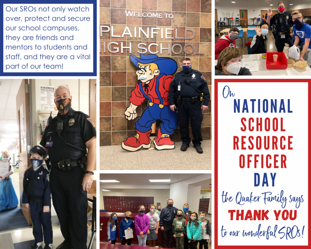 Plainfield Schools SROs with students