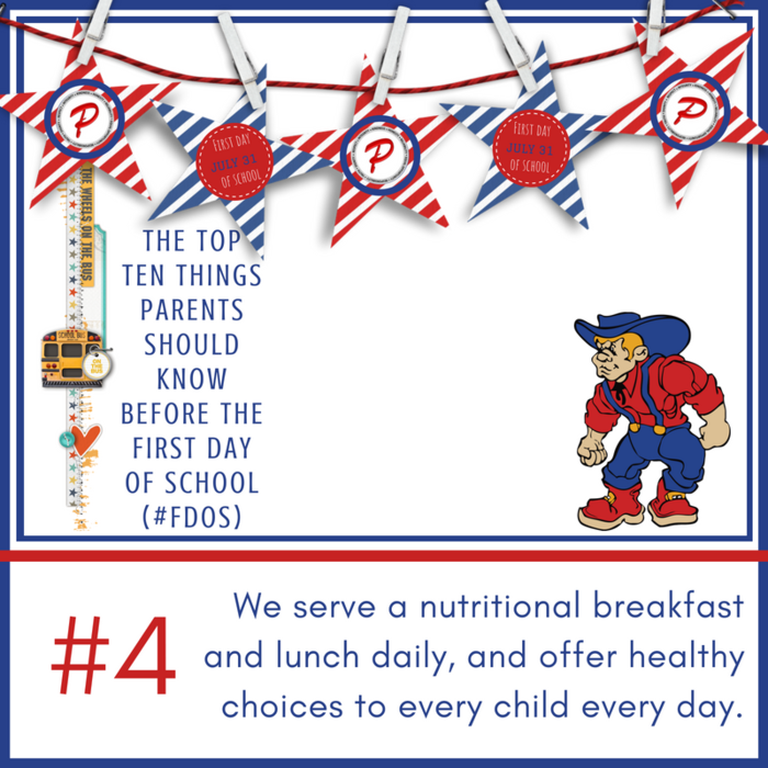 We serve a nutritional breakfast and lunch daily, and offer healthy choices to every child every day.