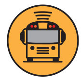 "Logo for the app ""Here Comes the Bus"""