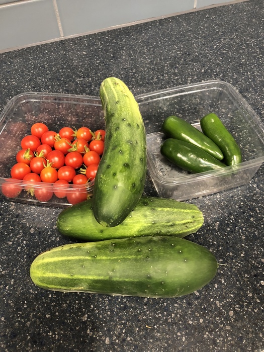 Wednesday harvest from the Learning Garden