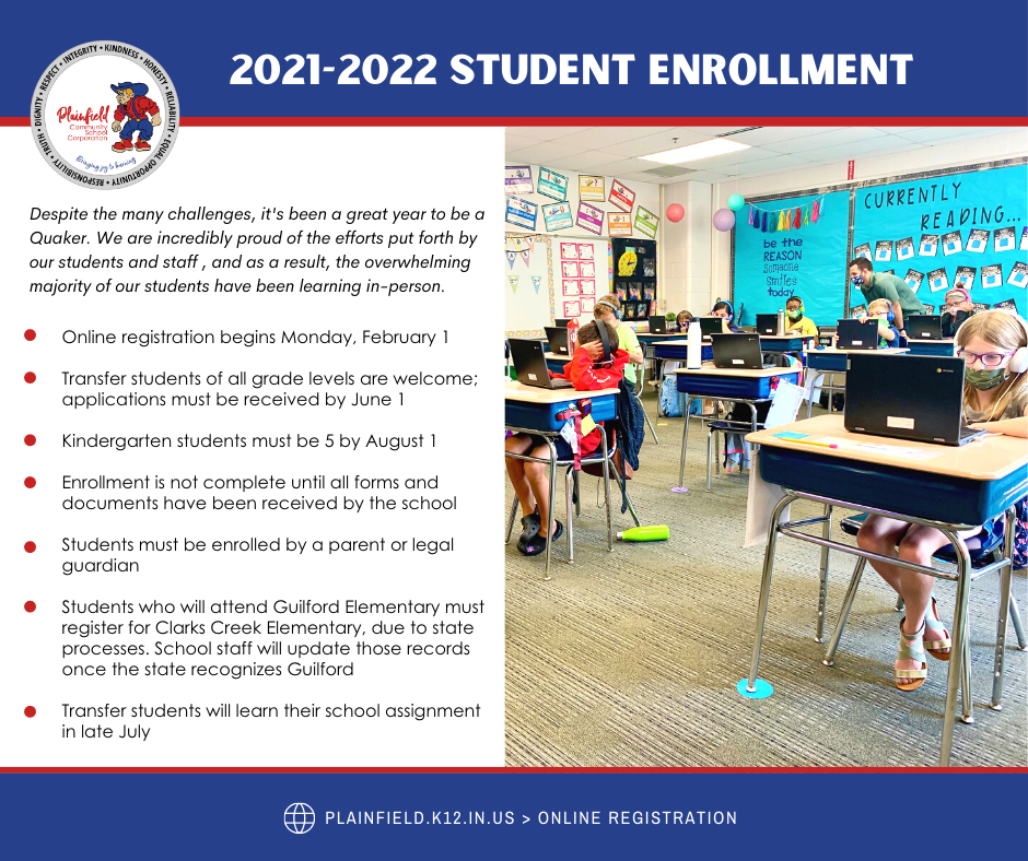 Enrollment for 2021-2022 begins February 1!