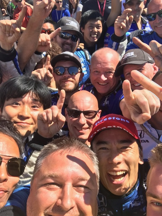 PHS Grad Brad Wright (pictured front in this photo) is the Chief Mechanic for Takuma Sato, yesterday's winner of the Grand Prix of Portland.