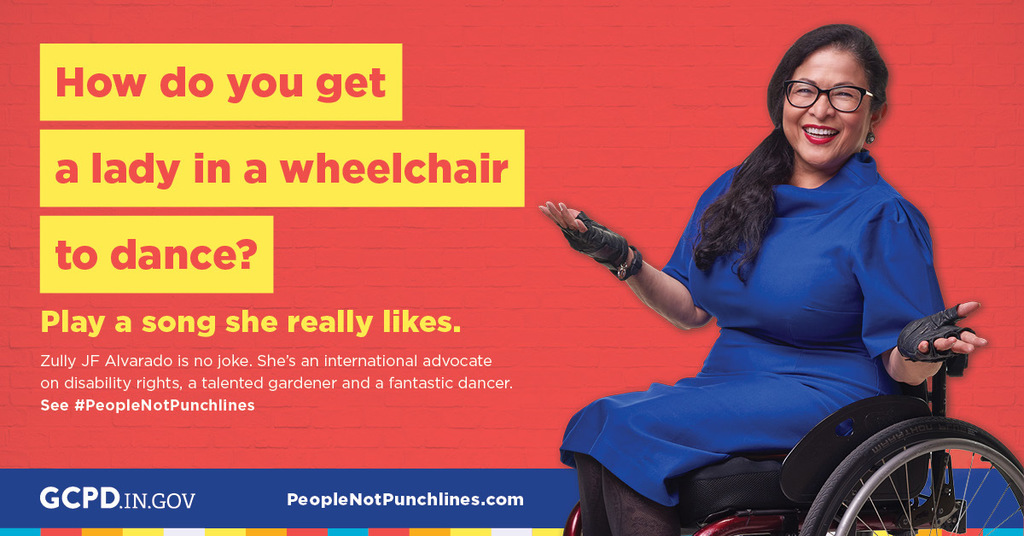 How do you get a lady in a wheelchair to dance? Play a song she really likes! Message sponsored by Disability Awareness Month