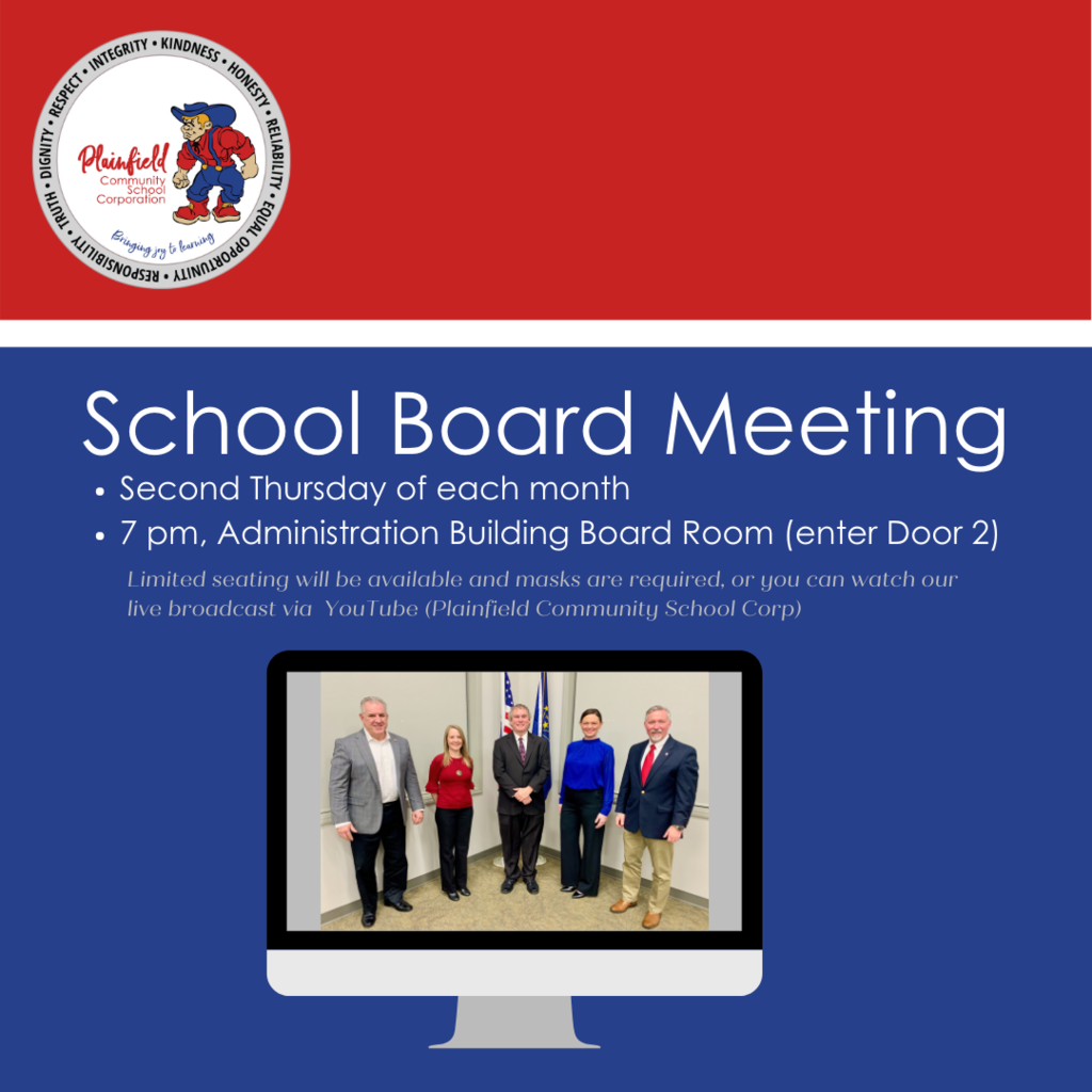 School Board meeting reminder - this evening at 7 pm!