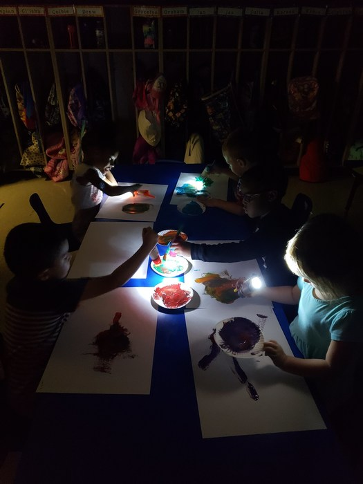 Painting by flashlight