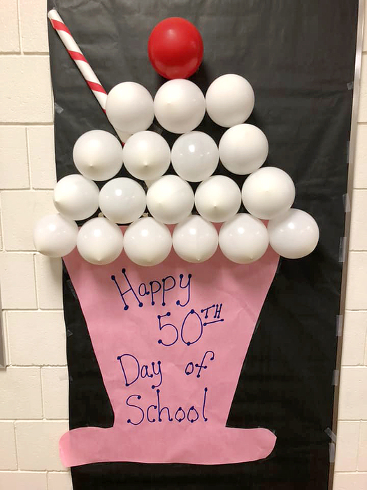 This adorable poster greeted Clarks Creek 2nd grade students yesterday - the 50th day of the school year.