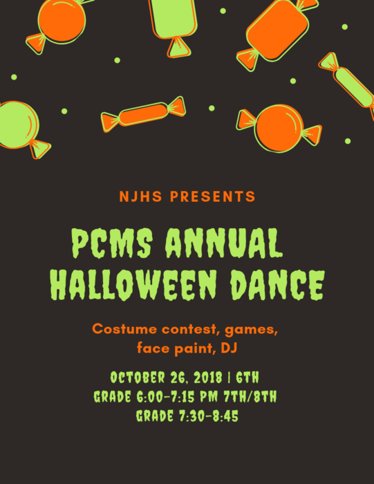 PCMS Halloween Dance - October 26
