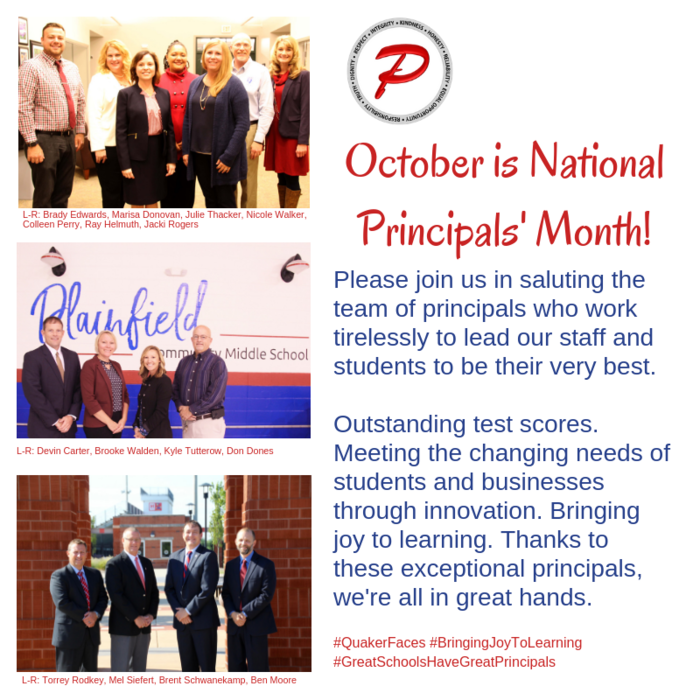 October is National Principals' Month!