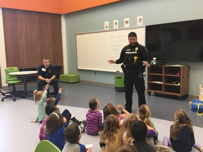 Hometown heroes talk to kids about their jobs.