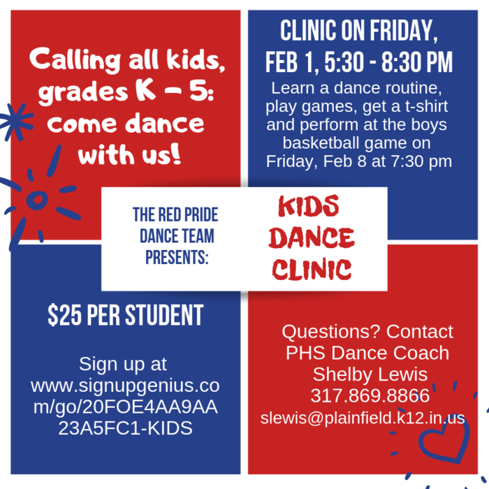 The Red Pride Dance Team presents: Kids Dance Clinic!