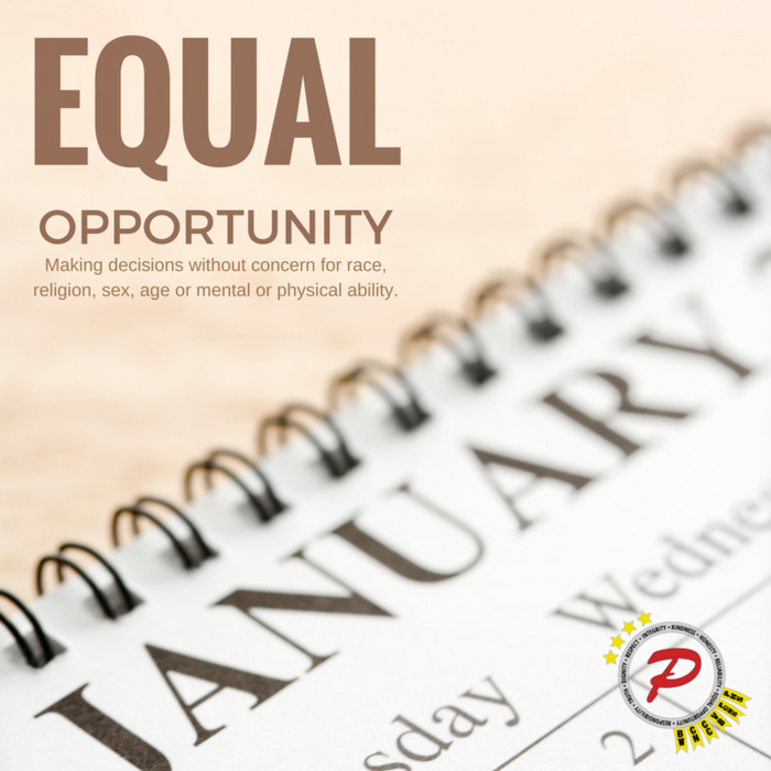 Our Community Value for January is Equal Opportunity.
