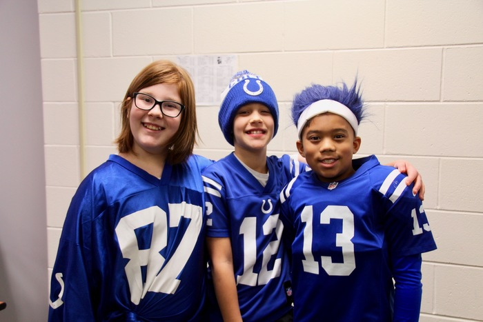 Loyal @Colts fans who also love wearing #ColtsBlue!