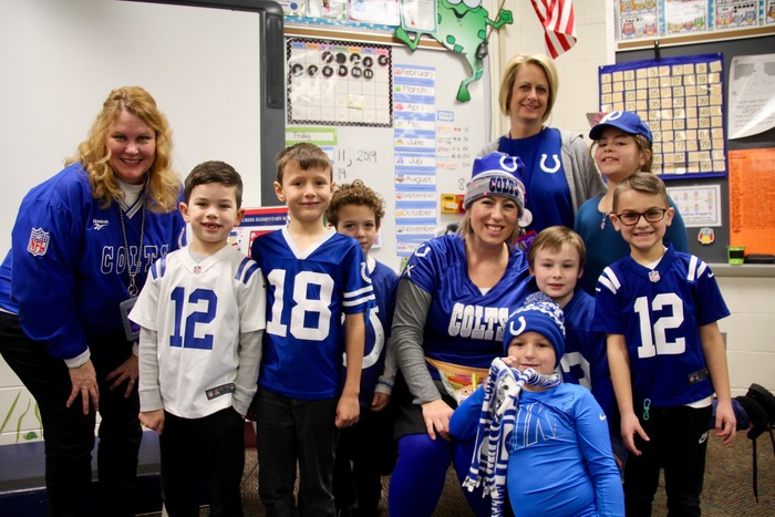 Mrs. Cade's students and friends are in the spirit of #BlueFriday