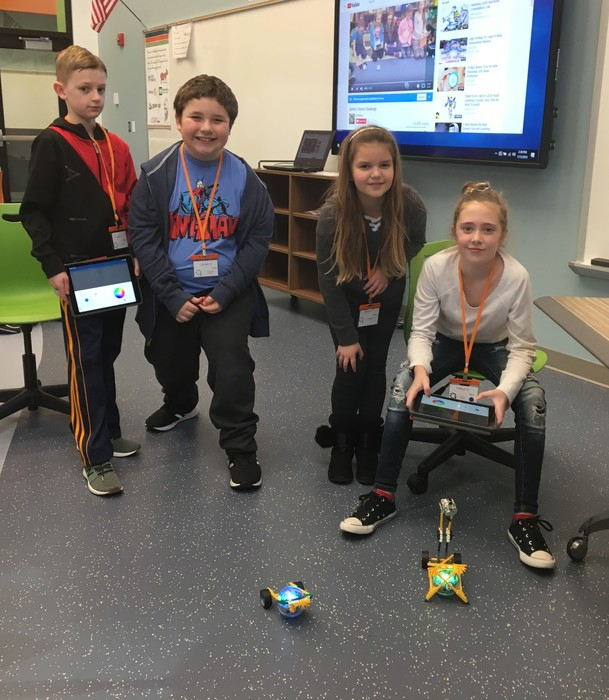 4th grade students design chariots for Sphero SPRK and control them using an iPad app.