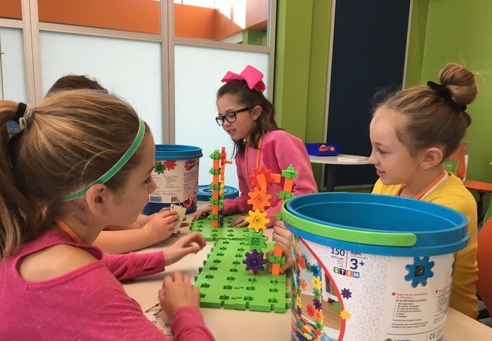 Students explore how gears work.
