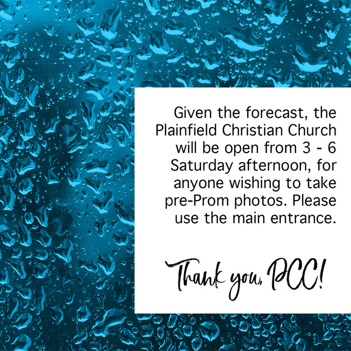 Thank you, PCC, for opening your doors to those who want to take pre-Prom photos on Saturday!