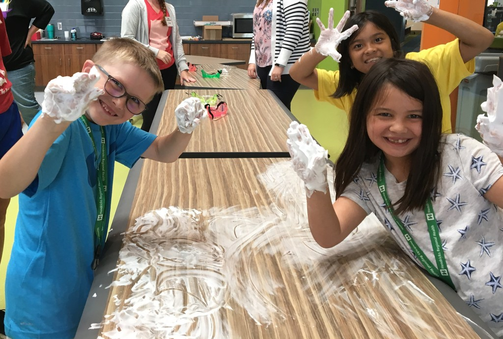 Chemistry camp is VERY messy, but VERY fun!