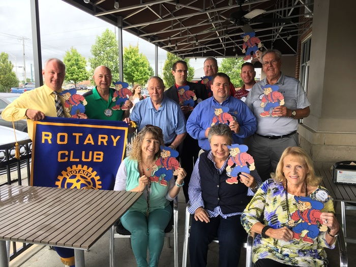 Plainfield Rotarians show their #QuakerFaces at today's meeting!