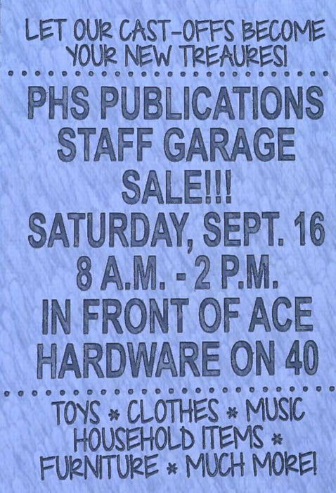 PHS Publications Garage Sale