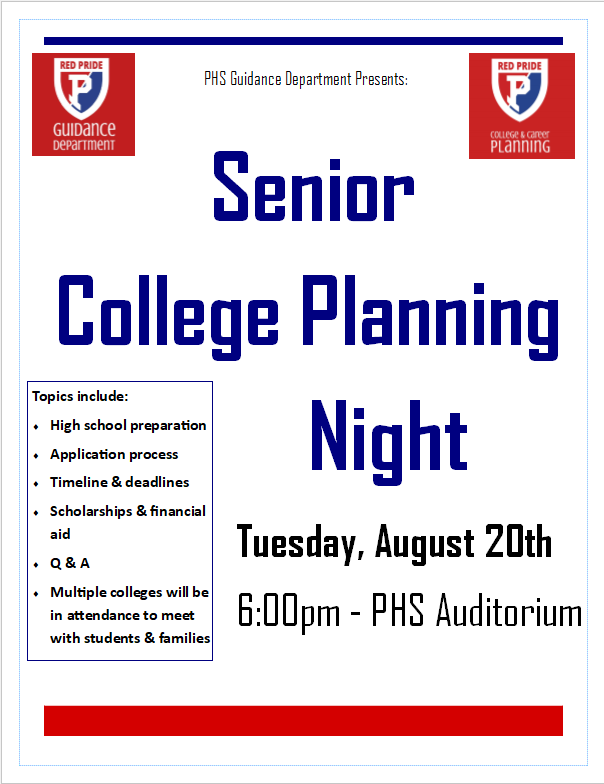 Senior college planning night