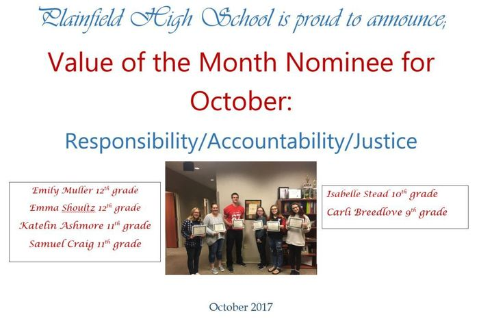 October Value of the Month Nominees