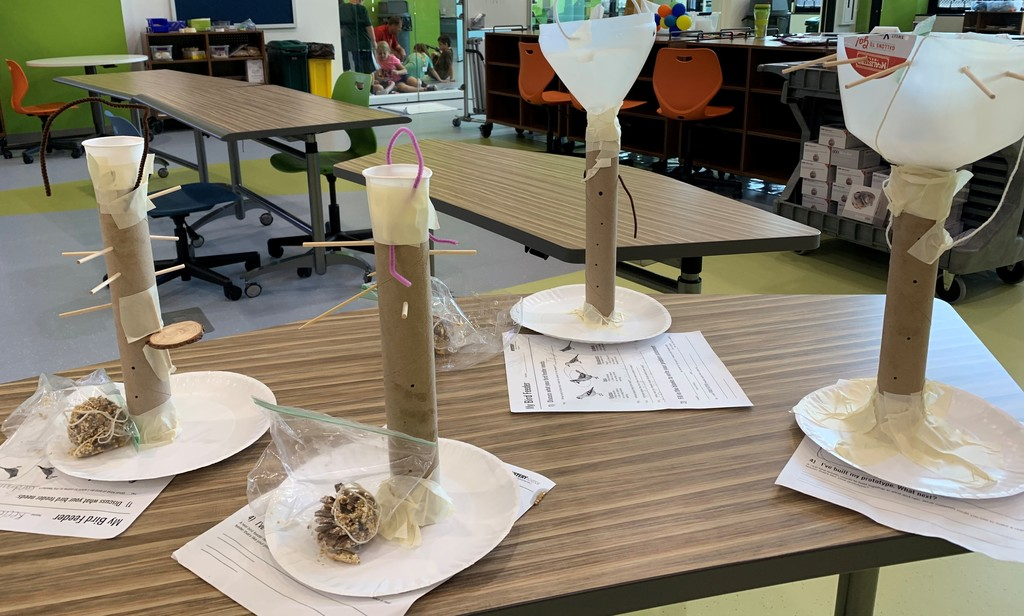 Students invented and built bird feeders at The Imagination Lab, but we need more materials.