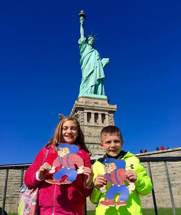 These two students shared their #QuakerFaces from the Statue of Liberty!